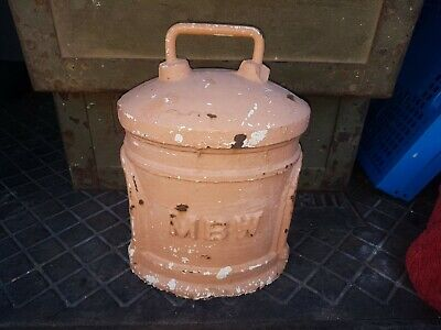 Vintage Antique Mbw / Mmbw Cast Iron Metal Water Meter Cover Door Stop