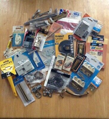 Miscellaneous home hardware and tool odd lot junk drawer