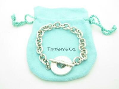 """Tiffany & Co. Sterling Silver 1837 Collection Toggle Chain Link Bracelet 7"""""""