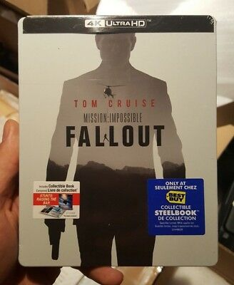 Mission Impossible Fallout Best Buy Exclusive Steelbook (Blu-ray + 4K UHD) NEW!!
