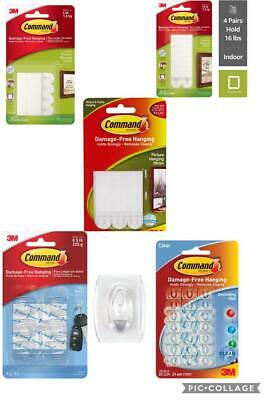3M Command Picture Hanging Strips Small Medium Large Decorating Clips Mini Hooks