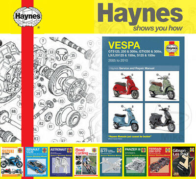 Vespa LX 125 ie 2010-2013 Haynes Service Repair Manual 4898