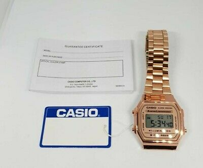 Casio Classic Digital Watch-A168WA-1YES-Rose Gold - 2 Years Warranty