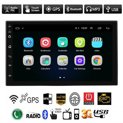 "7"" Double 2DIN HD Android 9.1 Car Radio Stereo MP5 Player GPS Navigation USB FM"