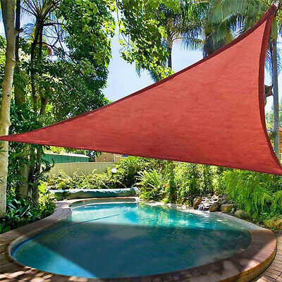 11.5' Triangle Sun Shade Sail Garden Yard Outdoor Canopy Cover Shelter Pool Red