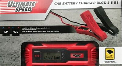 Ultimate Speed Car Battery Charger Ulgd 3.8 B1 For All 6V Or 12V With 1.2-120Ah