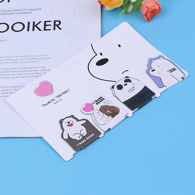 4Pcs cute bear naked magnet bookmark paper clip school office supply stationery!