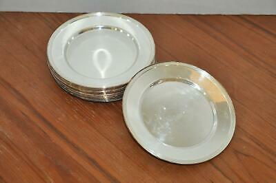 """12 National Silver On Copper 1025 6"""" Round Plates"""