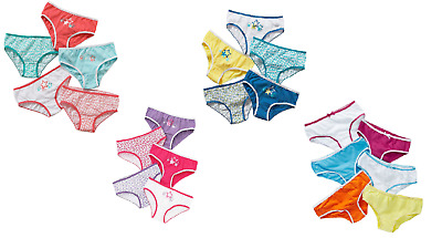 Girls Kids Pack of 5 Briefs 100% Cotton Girls Pants Knickers Age 2-13 Years