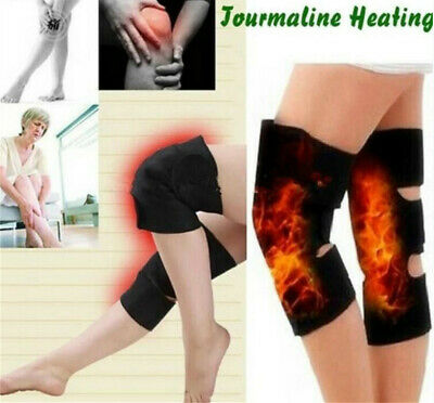 2Pcs Tourmaline Self Heating Kneepad Magnetic Therapy Knee Support Tourmaline