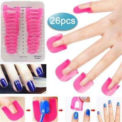 Bittb 26Pcs/set Nail Polish Varnish Protector Holder Manicure Finger Nail Art