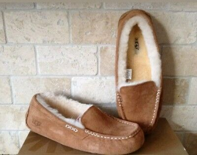 f320509194f UGG AUSTRALIA ANSLEY Nightfall Suede Moccasin Slippers Slip On Shoes ...
