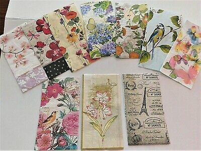 Set Of 10 Hostess  Paper Napkins For Decoupage paper crafts (New)