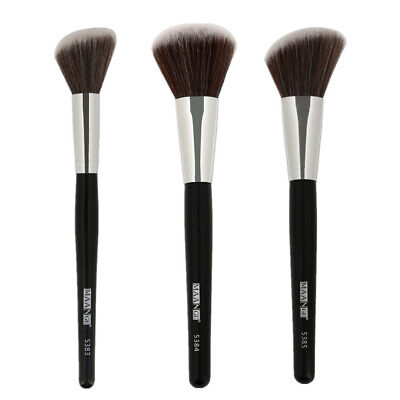 1Pc Angled Round Blush Makeup Brush Face Cheek Contour Blusher Nose Foundation