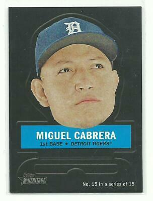 2016 Topps Heritage MIGUEL CABRERA Stand Ups Insert Detroit Tigers 15 of 15