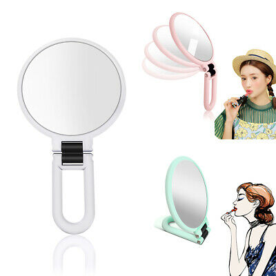 10X/15X Magnifying Double Sided Make Up Mirror Round Handheld Foldable Travel AU