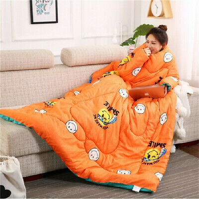 Winter Lazy Quilt with Sleeves Winter Quilt Home Bedding Comforter Keep Warm