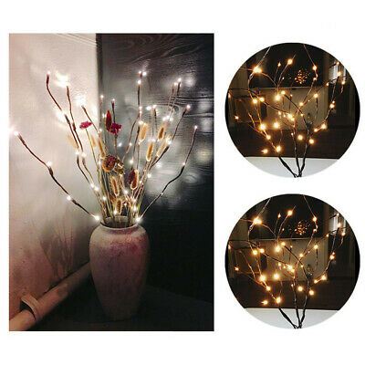 1Pcs LED Willow Branch Lamp Floral Lights 20 Bulbs Home Christmas Party Garden