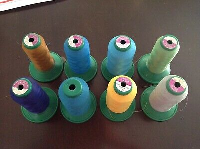 Ackermann Isacord Embroidery Machine Thread Lot 5000m Cone Spools Lot Of 8