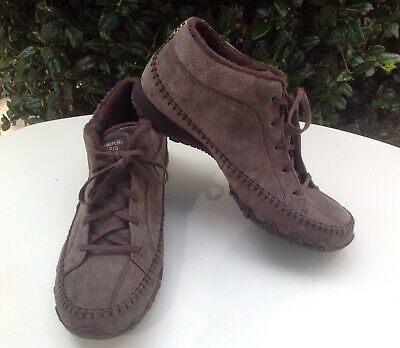Details about Skechers 'Bikers Totem Pole' Chukka Boots Black Suede Women's Size 8.5