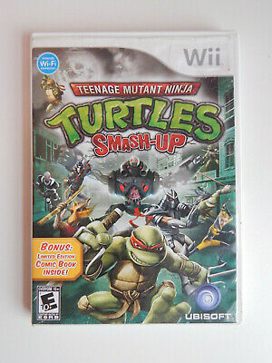 Teenage Mutant Ninja Turtles Smash-Up Game & Instructions Nintendo Wii