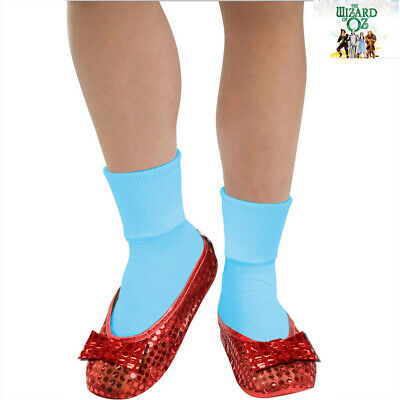 Wizard Of Oz Dorothy Ruby Red Child Girls Sequin Shoe Covers Book Week Accessory