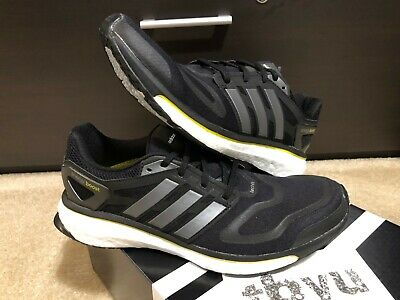 New Adidas Energy Boost M Running Shoes Mens Size 9.5 G64392 Black Yellow Ultra
