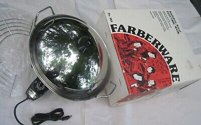 Vintage FARBERWARE Electric WOK Model 303 Perfect Heat Control, Box, Made in USA