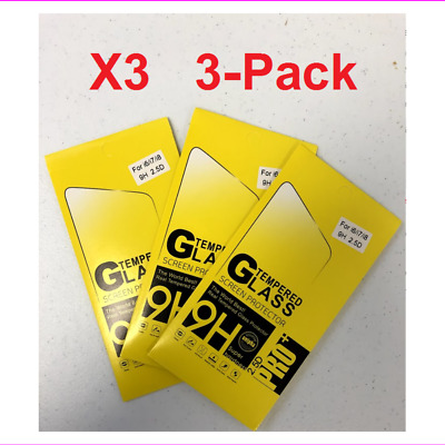 3 Pack Premium Real Screen Protector Tempered Glass For iPhone 6 6s 7 Plus X Xs