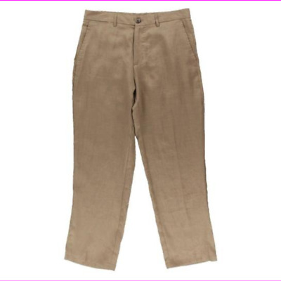 32 ~44 MLP50 Mens Bohio 100/% Linen Natural Flat-Front Casual Dress Pants