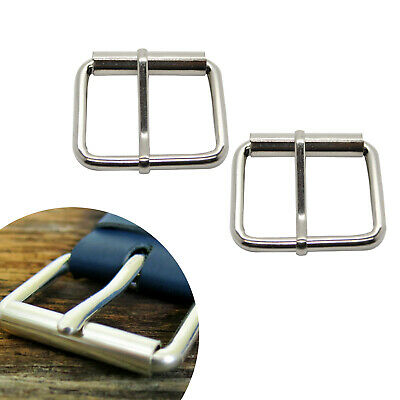 Silver Single Prong Replacement Roller Belt Buckle Fits 50mm Adjustable Strap