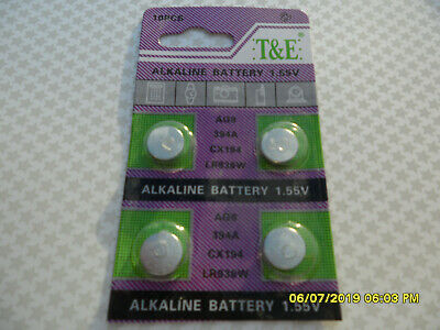 4 X Ag9 Lr936 936A 1.5V Alkaline Long Expiry Batteries Battery Watch Remote