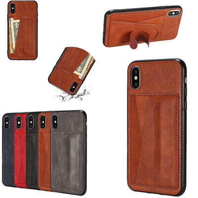 Leather Wallet Card Holder Stand Case Cover For iPhone Xs Max XR X 7 6s 8 Plus