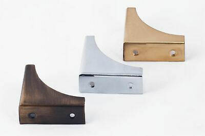 Polished Brass Table Or Trunk Corner Brackets - Solid Individually