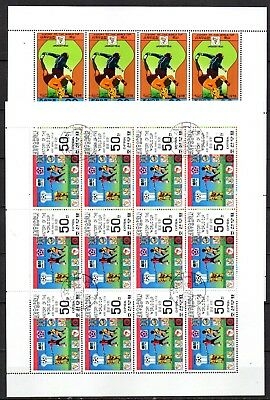 Coupe du monde de football 1978  - série de 12 feuillets - liquidation - 4 scans