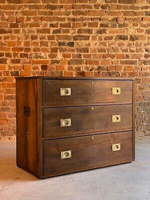 Campaign Chest of Drawers 19th century circa 1870 Number 28