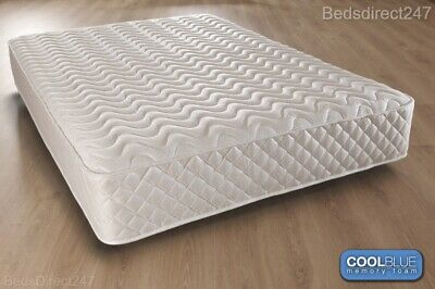 """Hybrid Memory Foam Quilted Spring Matress 3Ft 4Ft 4Ft6 5Ft Mattress 8"""" Or 10"""""""
