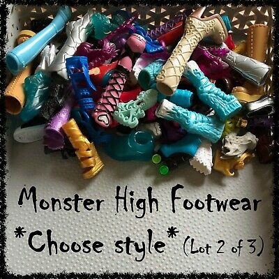MONSTER HIGH Doll Shoes, Boots, Sandals (Lot 2) ~SELECT STYLE~ 1 Pair incl.
