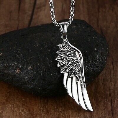 collier homme aile