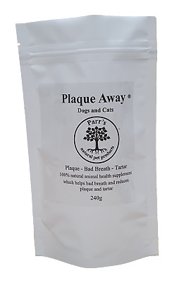 Plaque Off Away - Dogs & Cats- 240g - Removes Plaque& Tartar - Bad Breath