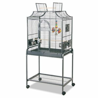 Antique Style Bird Cage Aviary With Wheels 71 x 45 x 139 cm (L x W x H)