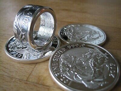 coin ring SILVER VALIANT  1 OZ 99.99 size W