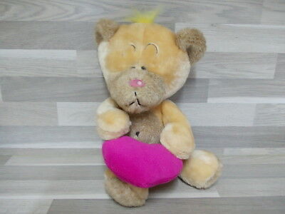 Grote Diddl bear with heart 30 cm - Have Fun ! Large Soft Toy Diddl