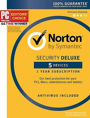 Norton Security Deluxe 5 Devices 1 Year 2019