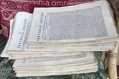 Job Lot COLLECTION Of 44 SATURDAY REVIEW LONDON VICTORIAN newspapers 1864-1868