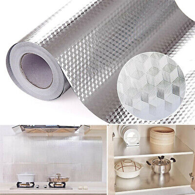 Aluminum Foil Kitchen Stickers Decoration Sticker Self Adhesive Waterproof