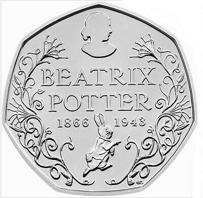Rare 150th Anniversary Beatrix Potter 50p Fifty Pence Coins Circulated 2016