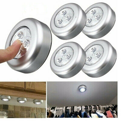 Fashion 3 LED Wall Light Kitchen Cabinet Closet Lighting Sticker Tap Touch Lamp