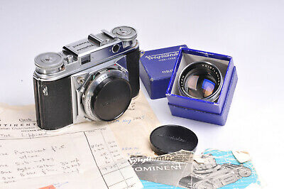 Voigtlander Prominent With Nokton 1:1.5 / 50mm Lens & Original Documents