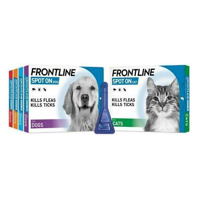 FRONTLINE SPOT ON Flea, Tick & Lice Treatment For S,M,L,XL Dogs & Cats (AVM-GSL)